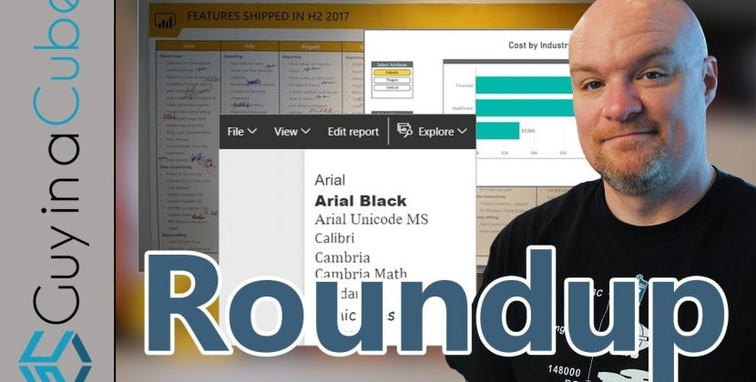 Fonts, Images, Power BI Contests and More