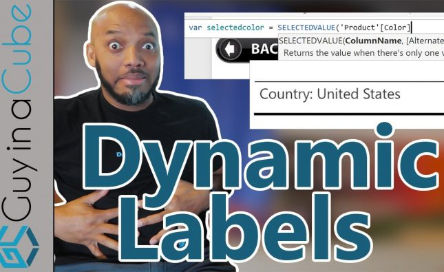 Dynamic Labels in Power BI Using DAX