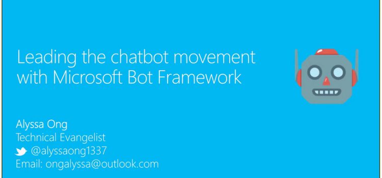 Join the Chatbot movement with Microsoft Bot Framework