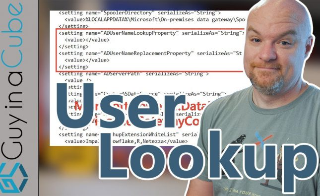 Power BI User Lookup via Gateway Using Active Directory
