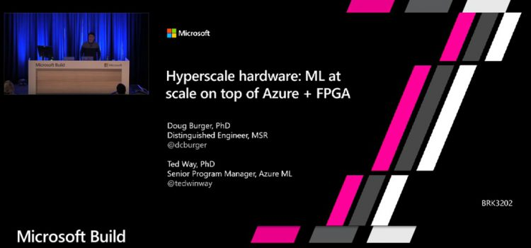ML at scale on top of Azure + FPGA