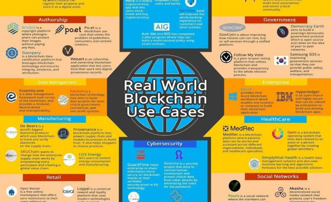 Real World Blockchain Use Cases Infographic