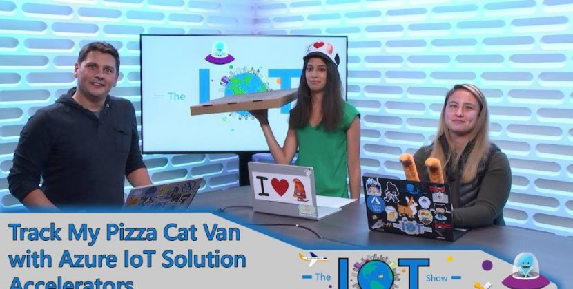 Azure IoT Solution Accelerators and Tracking the Pizza Cat Van